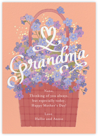 Flowers for Grandma - Paperless Post - Holiday cards