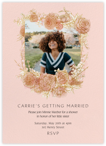 Blooming Frame - Paperless Post - Bridal shower invitations