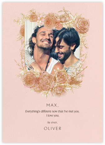 Blooming Frame - Paperless Post - Valentine's Day Cards