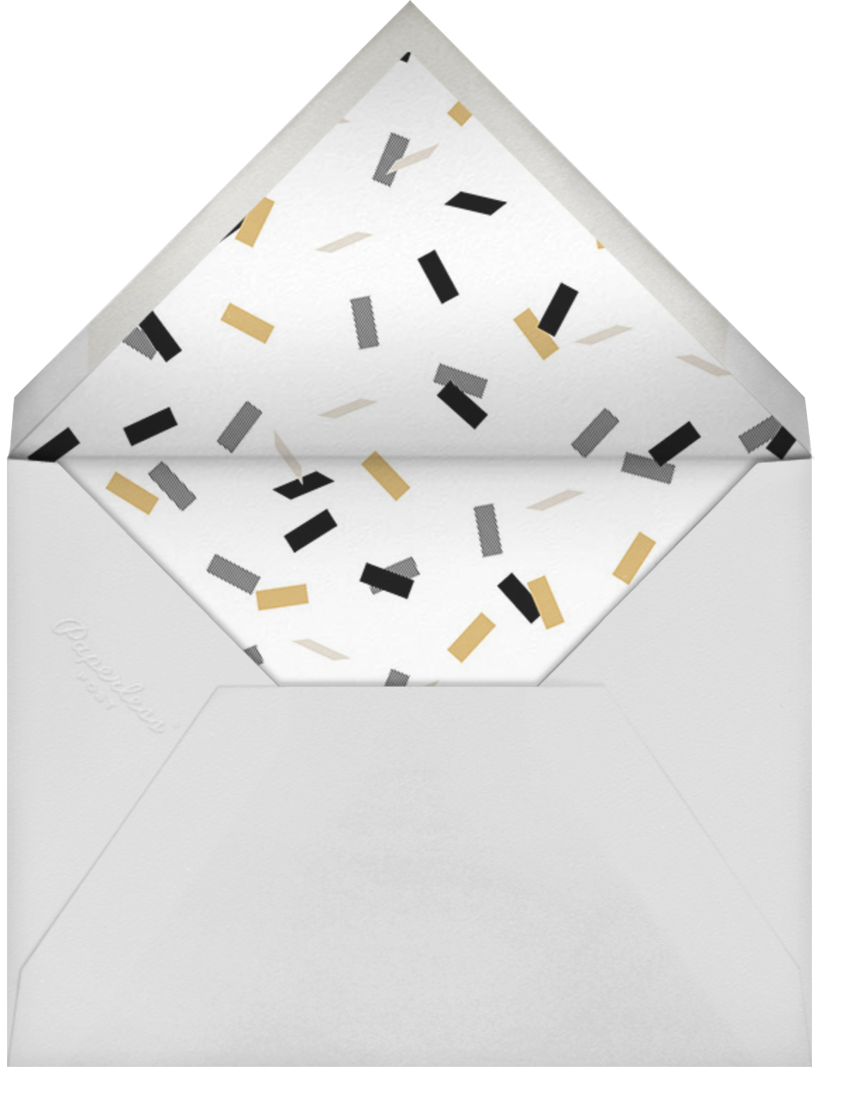 Idylle (Photo) - White/Gold - Paperless Post - Graduation thank you cards - envelope back