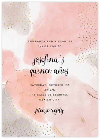 Ethereal Wash - Ashley G - Birthday invitations