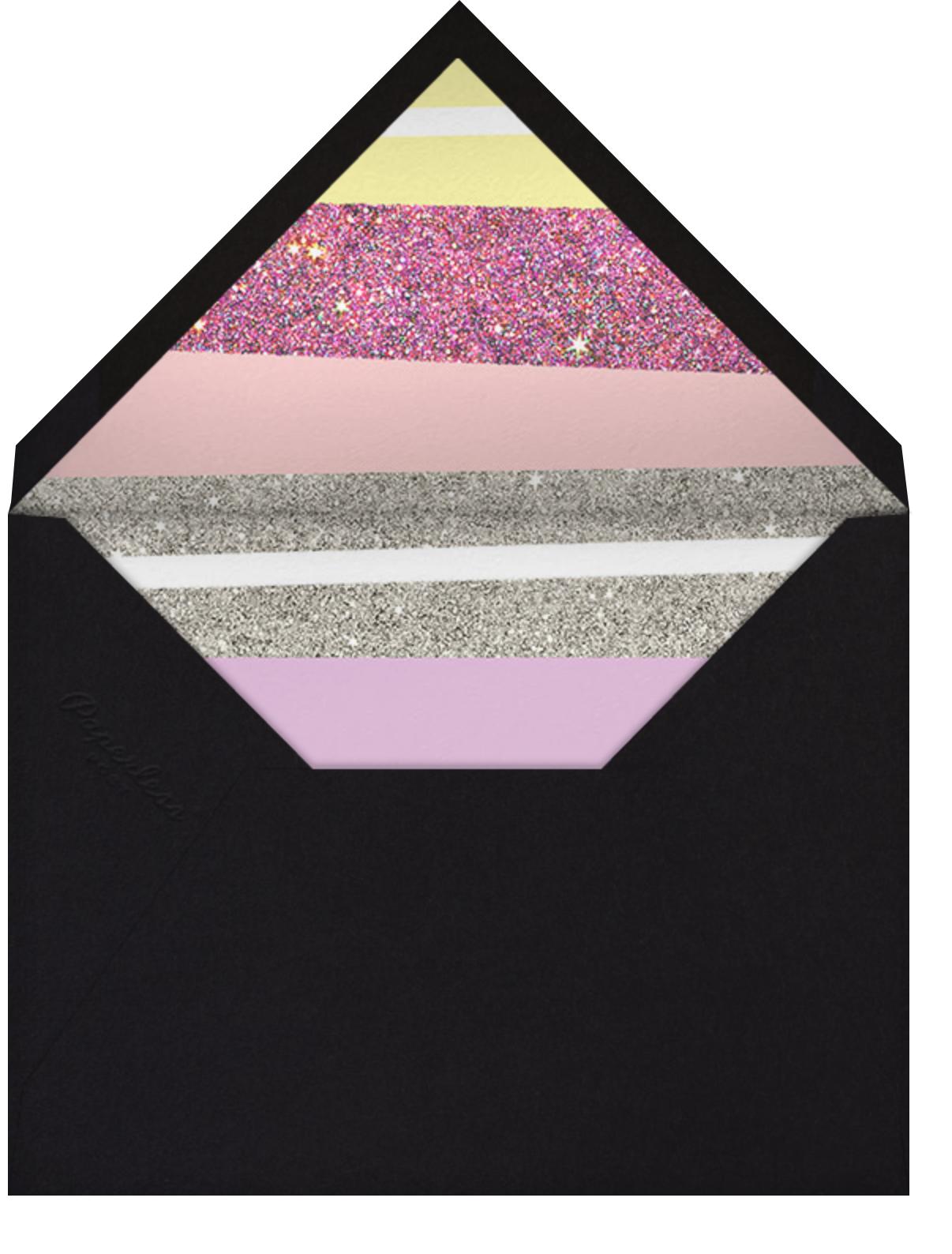 Karaoke Machine - Pink - Paperless Post - Quinceañera - envelope back
