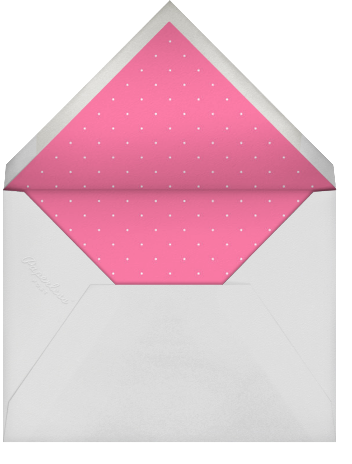 Tiara - Pink - Paperless Post - Quinceañera - envelope back