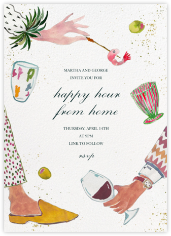 Holiday Hors d'oeuvres - Happy Menocal - Winter Party Invitations