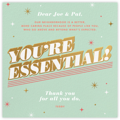 Essential Gratitude - Paperless Post - Online Thank You Cards
