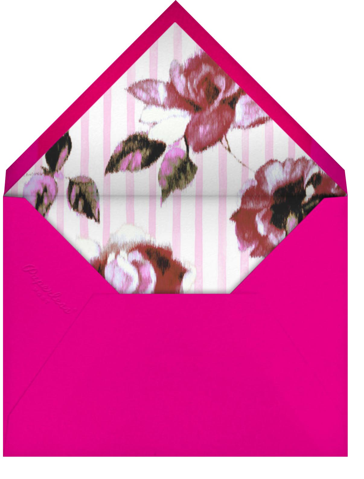 Abstracted Bloom - Pink - Carolina Herrera - Happy hour - envelope back
