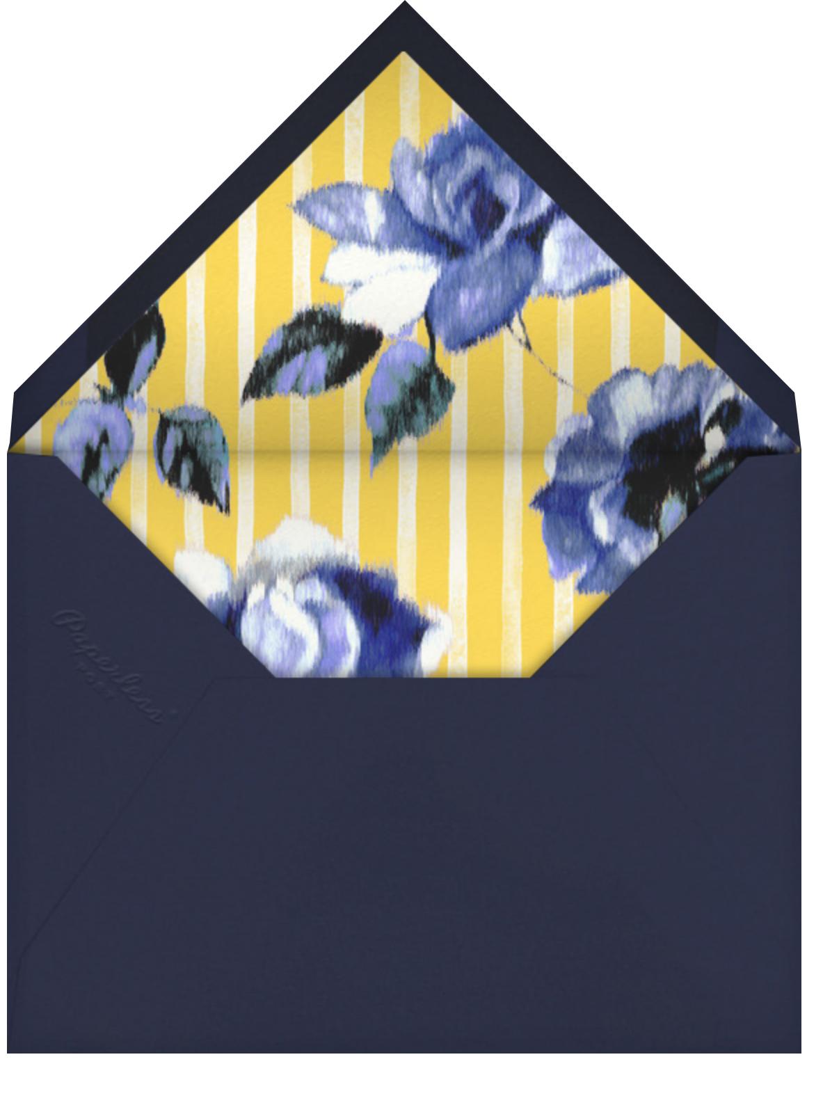 Abstracted Bloom (Greeting) - Yellow - Carolina Herrera - Thinking of you - envelope back
