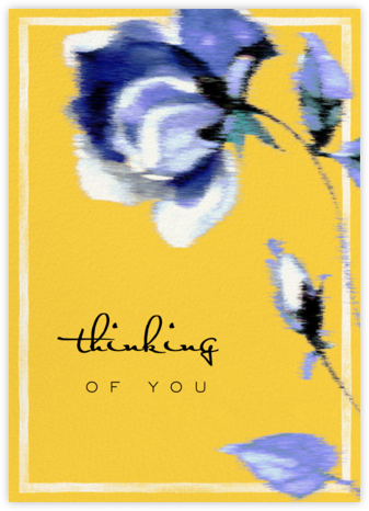 Abstracted Bloom (Greeting) - Yellow - Carolina Herrera - Thinking of you cards