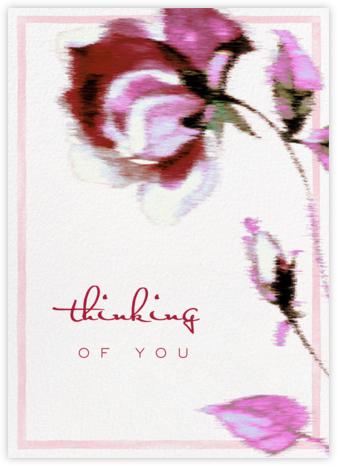 Abstracted Bloom (Greeting) - Pink - Carolina Herrera -