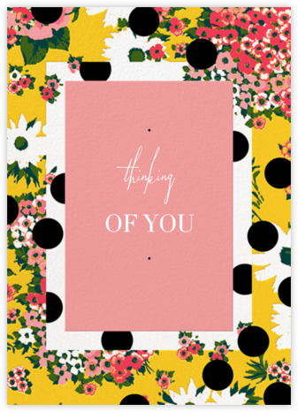 Floral Dots (Greeting) - Carolina Herrera - Thinking of you cards