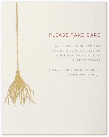 Tassel Card - Paperless Post - Postponement announcements