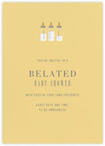 Baby Bottles - Dawn - Paperless Post - Postponement announcements