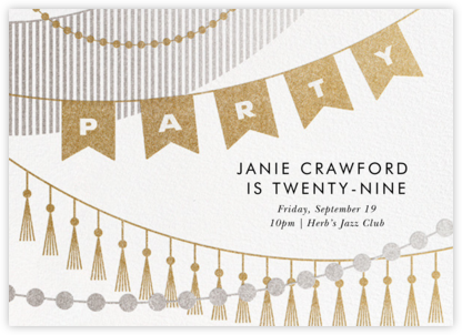 Party Banner - Paperless Post - Adult Birthday Invitations