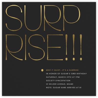 Bold Surprise - Gold - Paperless Post - Birthday invitations