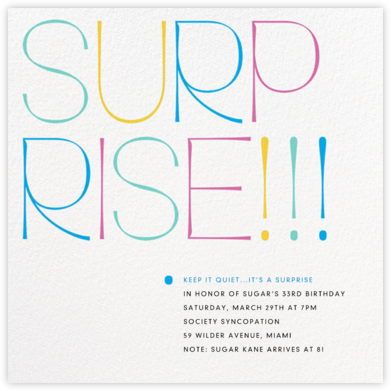 Bold Surprise - Multi - Paperless Post - Adult Birthday Invitations