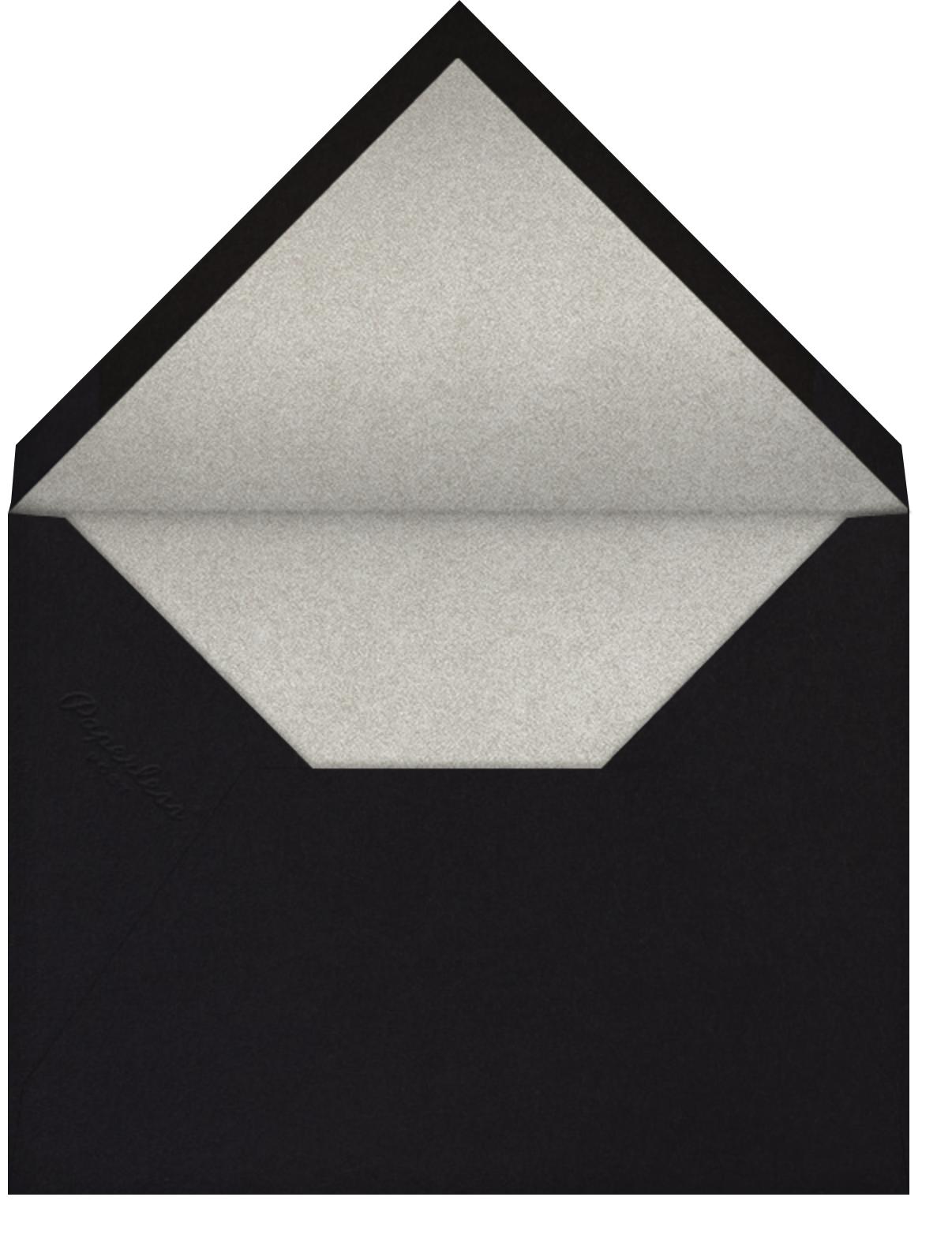 Cheers on Cheers - Silver - Paperless Post - Adult birthday - envelope back