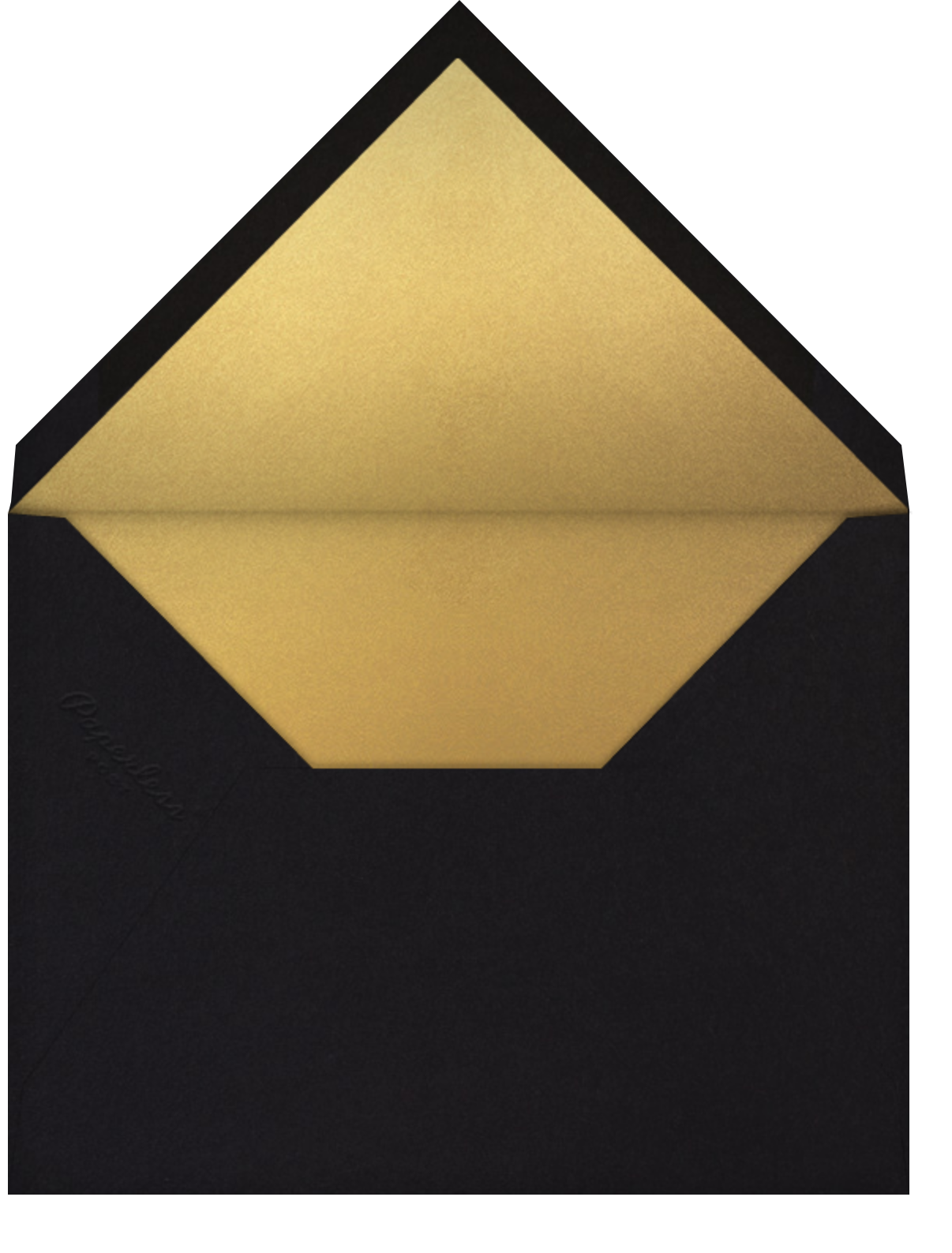 Cheers on Cheers - Gold - Paperless Post - Adult birthday - envelope back