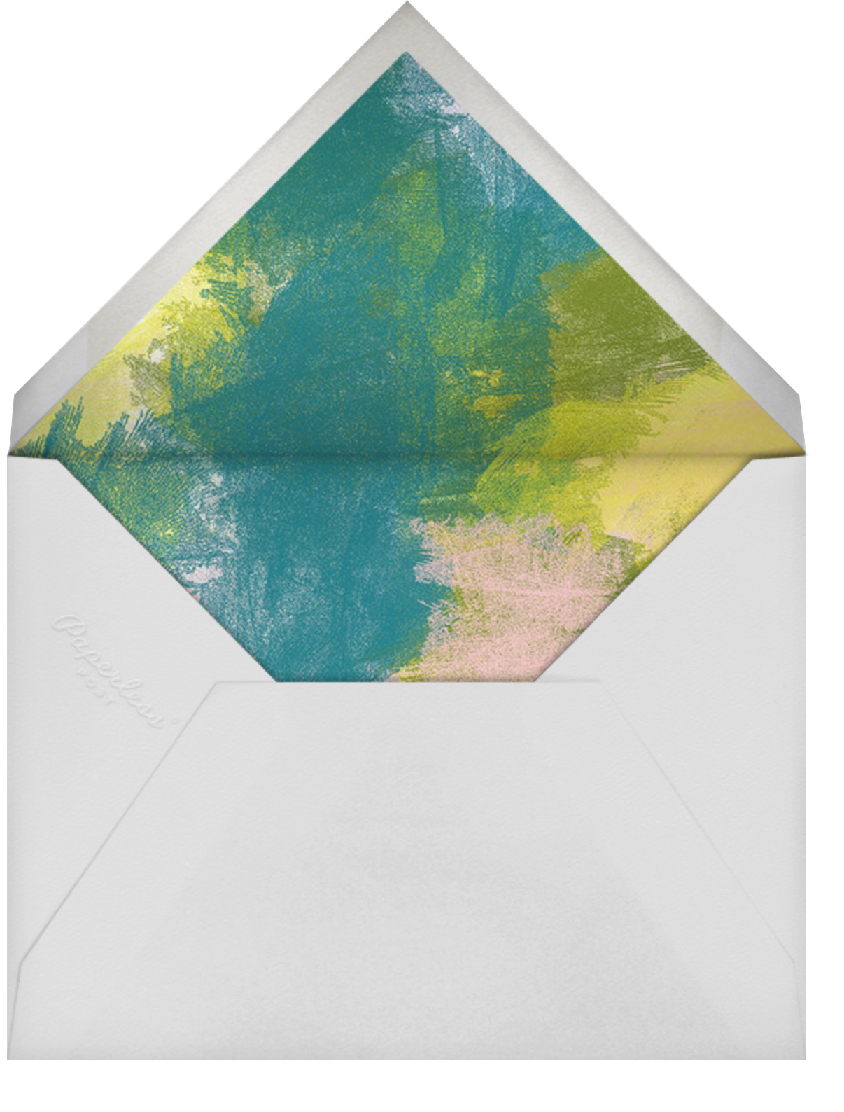 Marble Paint - Ashley G - Kids' birthday - envelope back