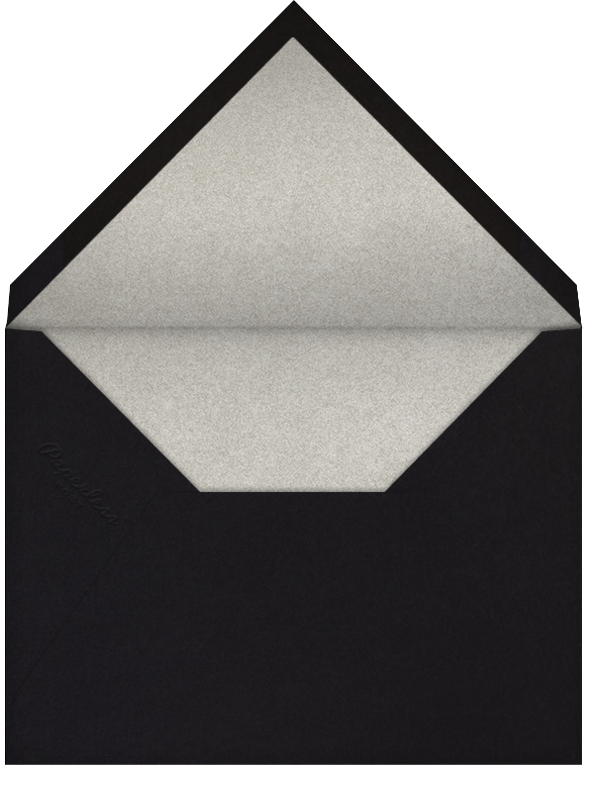 Cheers on Cheers - Silver - Paperless Post - New Year's Eve - envelope back