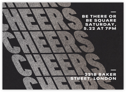 Cheers on Cheers - Silver - Paperless Post