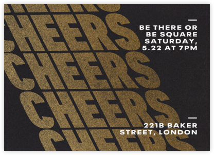Cheers on Cheers - Gold - Paperless Post -