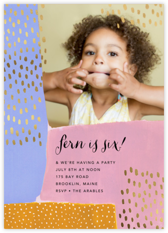 Dappled Blocks Photo - Ashley G - Kids' Birthday Invitations