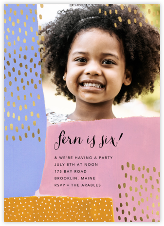 Dappled Blocks Photo - Ashley G - Online Kids' Birthday Invitations