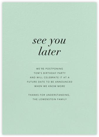 Mint - Paperless Post - Postponement announcements