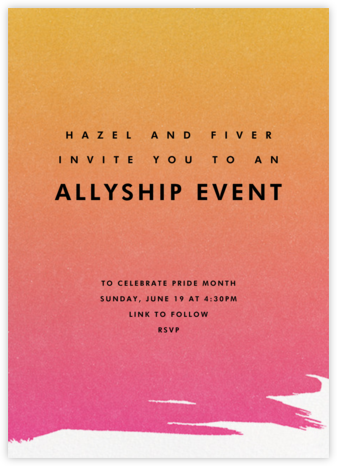 Gradient Painted - Pink - Paperless Post - Pride Party Invitations