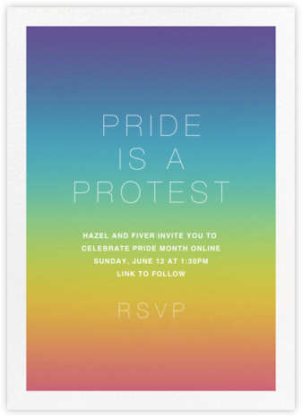 After the Rain - Paperless Post - Pride Party Invitations