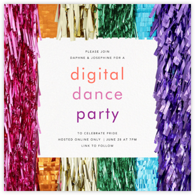 Gleam - CONFETTISYSTEM - Online Party Invitations