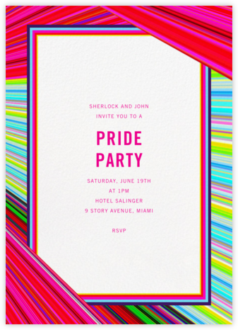 Rainbow Stripe - Mary Katrantzou - Get-together invitations