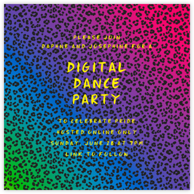 Neon Cheetah - Paperless Post - Virtual Parties
