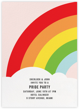 Rainbow's End - Paper + Cup - Pride Party Invitations