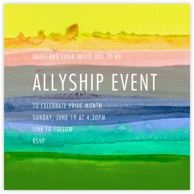Zephyr - Yellow - Kelly Wearstler - Pride Party Invitations