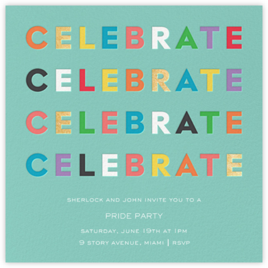 Colorful Celebration - kate spade new york - Pride Party Invitations