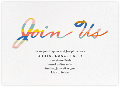 Scratchboard Welcome - Ivory - Ashley G - Pride Party Invitations