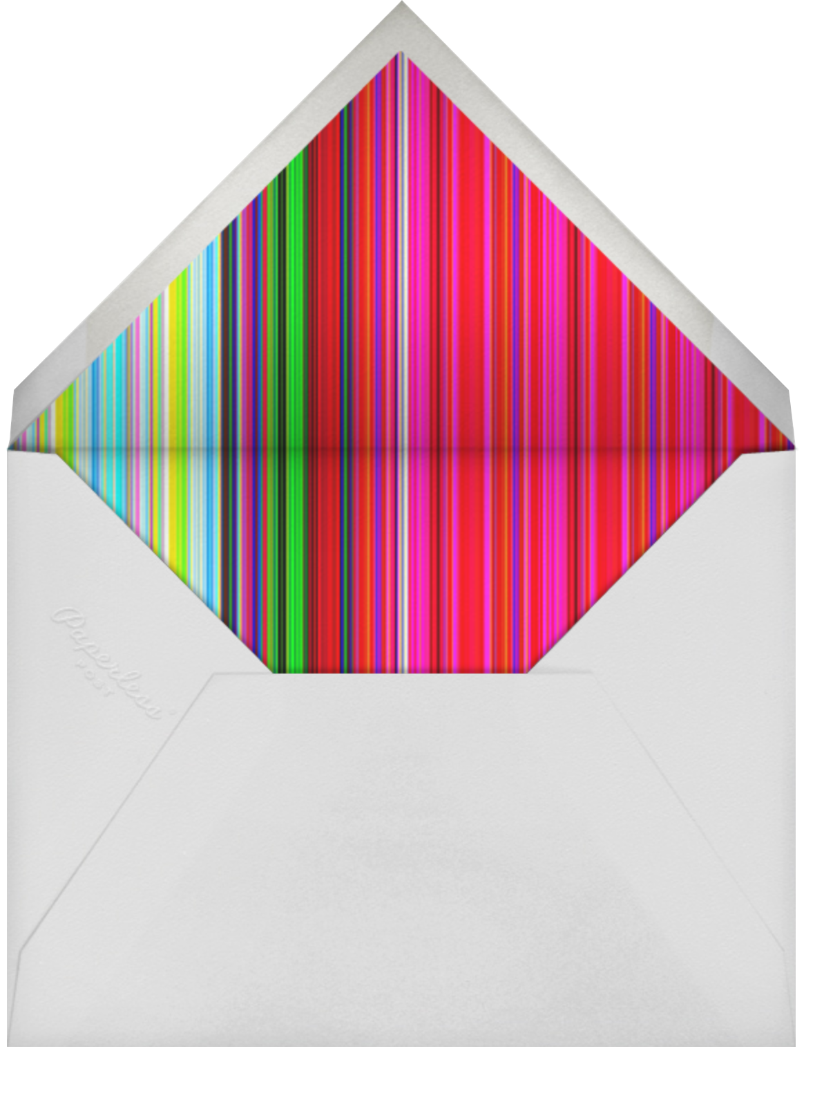 Rainbow Stripe - Mary Katrantzou - Pride - envelope back