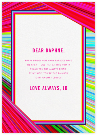 Rainbow Stripe - Mary Katrantzou - Pride Greeting Cards