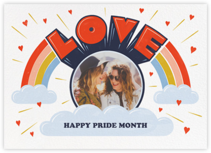 Love from Above - Paperless Post - Pride Greeting Cards