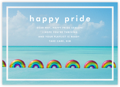 Rainbow Balloons - Gray Malin - Pride Greeting Cards