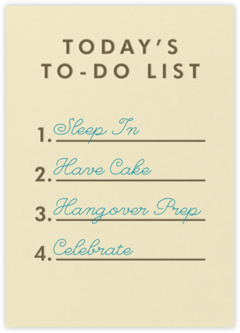 To-Do List - Paperless Post - Birthday