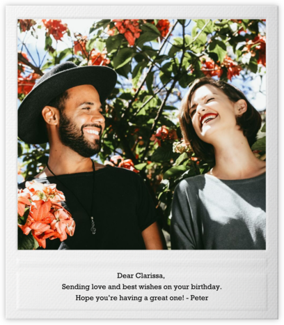 Snapshot - Single Sided - Paperless Post - Online Greeting Cards
