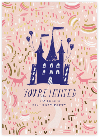 Castle Confetti - Mr. Boddington's Studio - Online Kids' Birthday Invitations