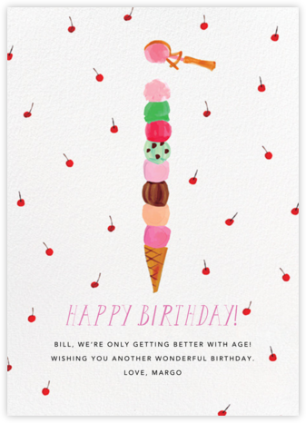 You're Double Dipping (Tall) - Mr. Boddington's Studio - Online Greeting Cards
