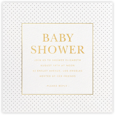 Classic Dots - Sugar Paper - Baby Shower Invitations