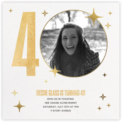 Milestone Moment - Paperless Post - Adult birthday invitations