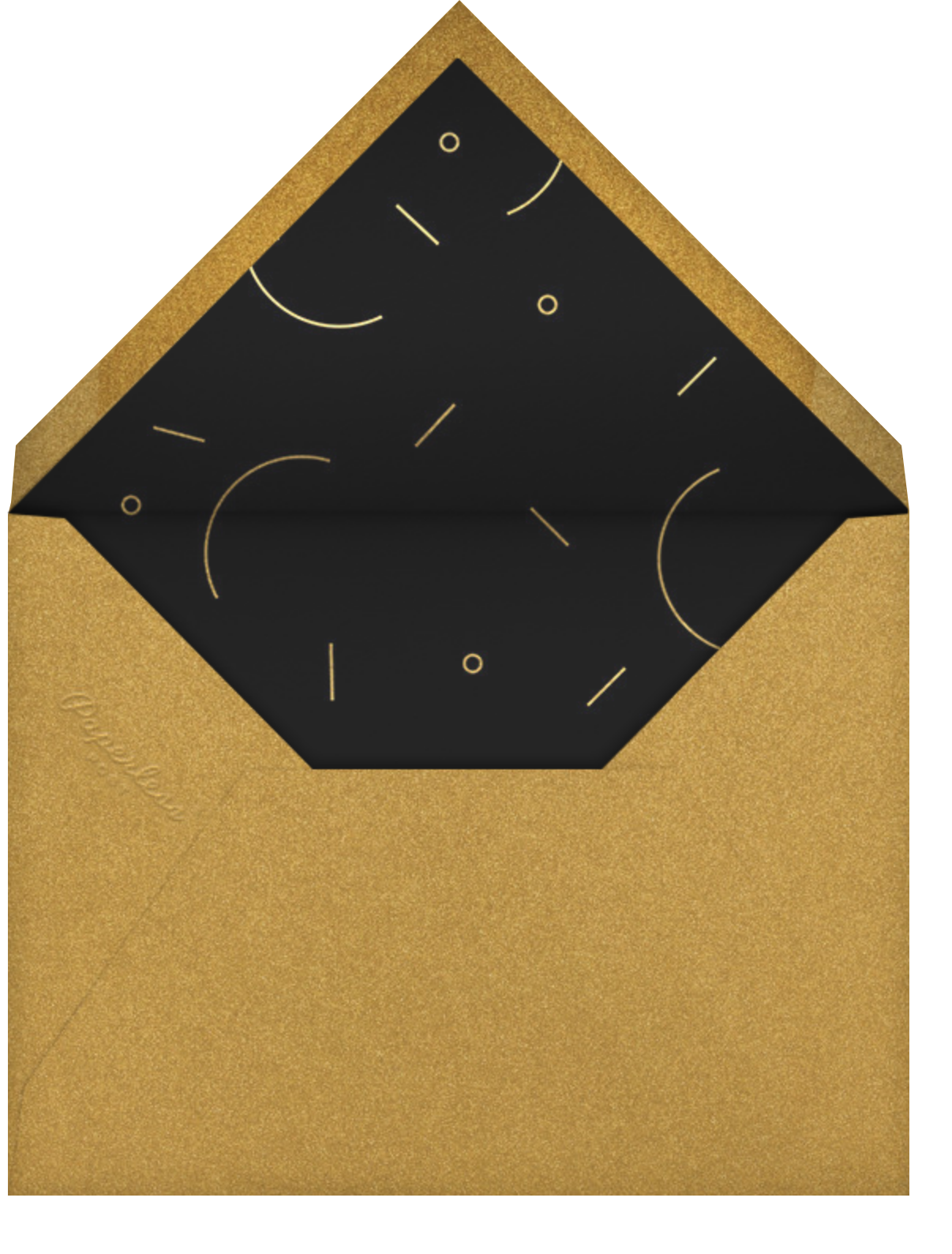 Geometric Cheers - Black - Paperless Post - Adult birthday - envelope back