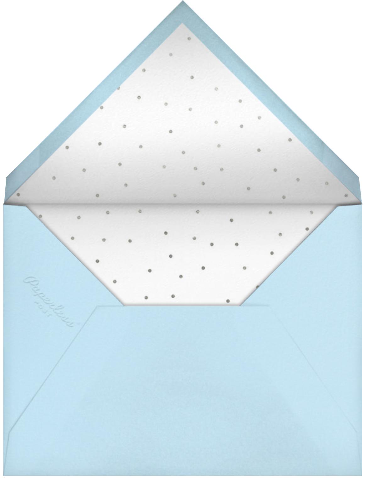 Snow Glow - Silver - Paperless Post - Kids' birthday - envelope back