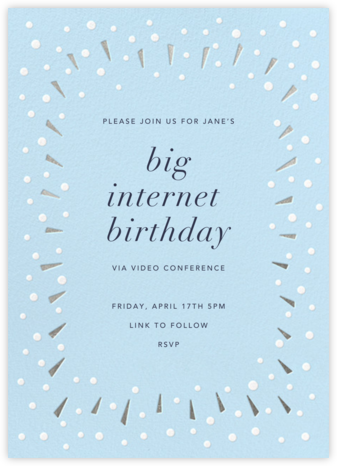 Snow Glow - Silver - Paperless Post - Online Kids' Birthday Invitations